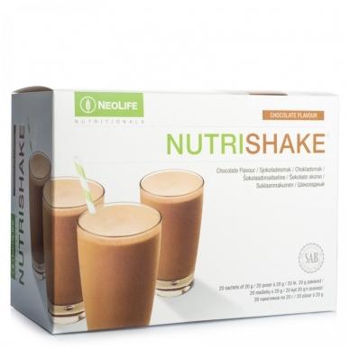 """NutriShake - """"NeoLife"""" baltyminis kokteilis Šokolado skonio (20 maišelių po 20 g)"""