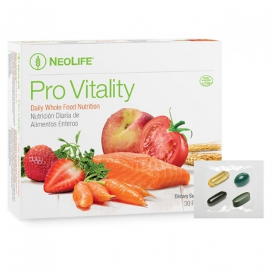 """Pro Vitality Plus - """"NeoLife"""" kompleksinis mitybos papildas (1x30 maišelių)"""