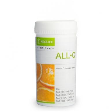 """All C - """"NeoLife"""" kramtomosios vitamino C tabletės vaikams (120 tablečių)"""