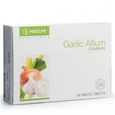 """Garlic Allium Complex - """"NeoLife"""" česnakų/svogūnų mitybos papildas (60 tablečių)"""