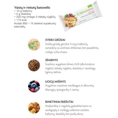 """NeoLifeBar - """"NeoLife"""" vaisių ir riešutų batonėlis (15 vnt. x 45 g) 2"""