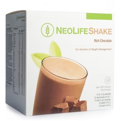 """NeoLifeShake - """"NeoLife"""" baltyminis kokteilis šokolado skonio (15 pakelių po 42 g)"""