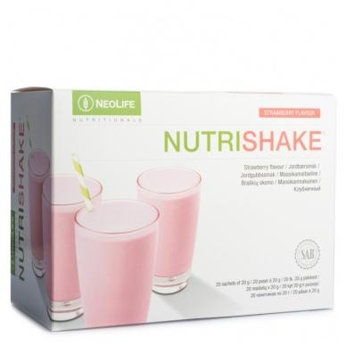 """NutriShake - """"NeoLife"""" baltyminis kokteilis Braškių skonio (20 maišelių po 20 g)"""