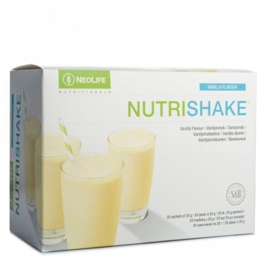 """NutriShake - """"NeoLife"""" baltyminis kokteilis Vanilės skonio (20 maišelių po 20 g)"""